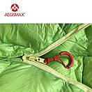 Пуховый спальный мешок AEGISMAX UL-Wing GREEN. +11°C +6°C. 800 FP. Размер  M. Пуховий спальний мішок кокон., фото 7