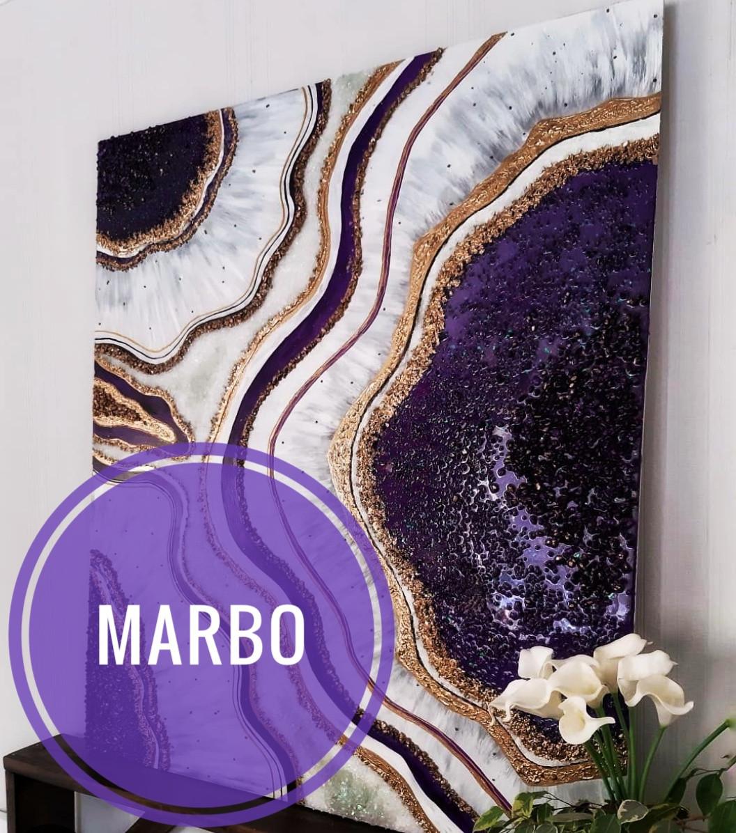 Вайолет краситель пигмент для смол Марбо Marbo (Италия), 15 мл, концентриров.