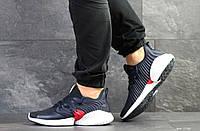 Кросівки чоловічі демісезонні Adidas, темно сині з білим