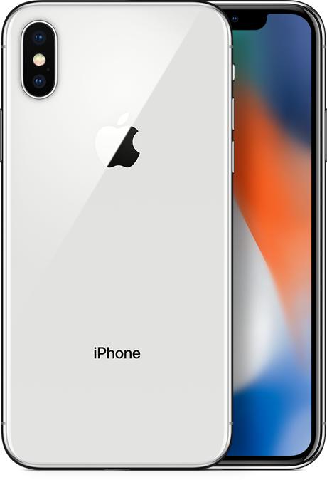 Смартфон Apple iPhone X 64GB Silver (MQAD2) (Восстановленный)