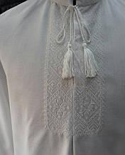 """Мужская вышиванка """"Белым по белому"""". Классика украинской вышивки."""