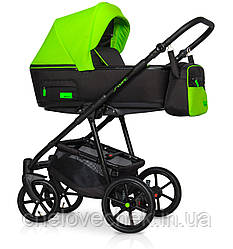 Детская коляска универсальная 2 в 1 Riko Swift Neon 21 Ufo Green (Рико Свифт, Польша)