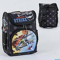 Рюкзак школьный каркасный Вертолет 1 отделение, 3 кармана, спинка ортопедическая, 3D принт С 36160