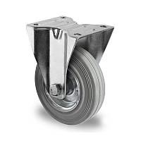 Неповоротное колесо диаметром 80 мм из стандартной серой резины