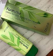 Увлажняющий солнцезащитный крем с семенами зеленого чая FARM STAY Green Tea Seed Moisture Sun Cream