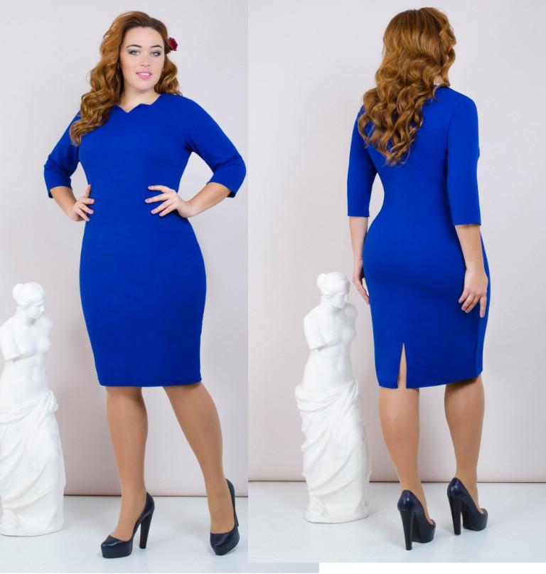 Платье женское  сзади с разрезом большие размеры