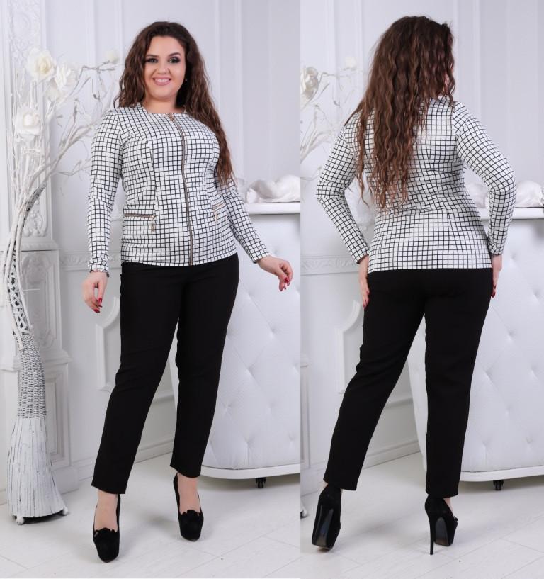 Костюм женский с блузкой и брюками большие размеры