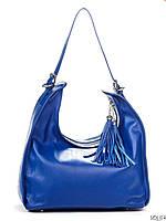 Итальянская женская кожаная сумка 6906_blue