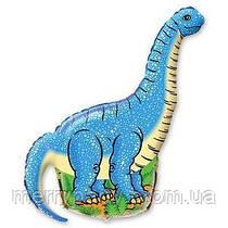 Мини-фигура 41х27 см Динозавр голубой Flexmetal Испания шар фольгированный