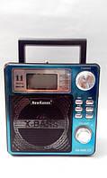 Радио/фонарь KN-895, дисплей с подсветкой, цифровой тюнер, запись, микрофонный вход, USB/SD, led 1w