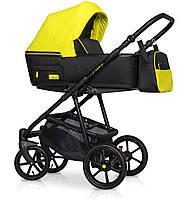 Детская коляска универсальная 2 в 1 Riko Swift Neon 23 Crazy Yellow (Рико Свифт, Польша)