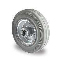 Колесо 125x38 сталь/серая резина, роликовый подшипник