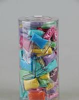 Трусики-стринги с рюшем Doily (75 шт\туб) из спанбонда Микс Разноцветные
