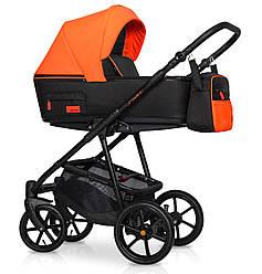 Детская коляска универсальная 2 в 1 Riko Swift Neon 24 Party Orange (Рико Свифт, Польша)