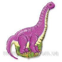 Мини-фигура 41х27 см Динозавр розовый Flexmetal Испания шар фольгированный