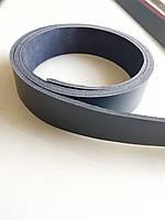 Кожаная ременная полоса,лента. Темно-синий цвет 4мм с финишным покрытием.