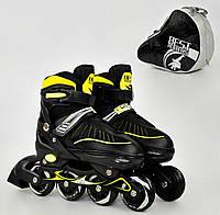 Ролики Best Roller 5700, р. 39-42, желтые, фото 1