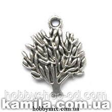 """Метав. підвіска """"деревце"""" срібло (1,6х2 см) 8 шт в уп."""