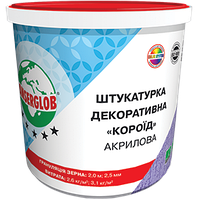 Фасадна штукатурка Ансерглоб / Anserglob акрилова короїд (зерно 2,0 і 2,5 мм) - 25 кг