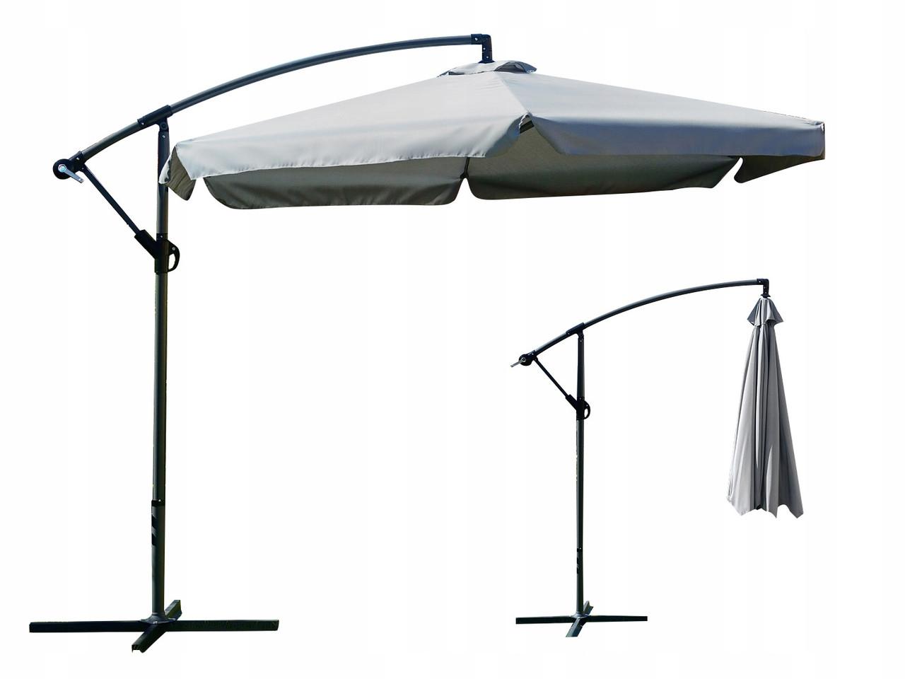 Садовый зонт с боковой стойкой 3 м Парасоля Серый