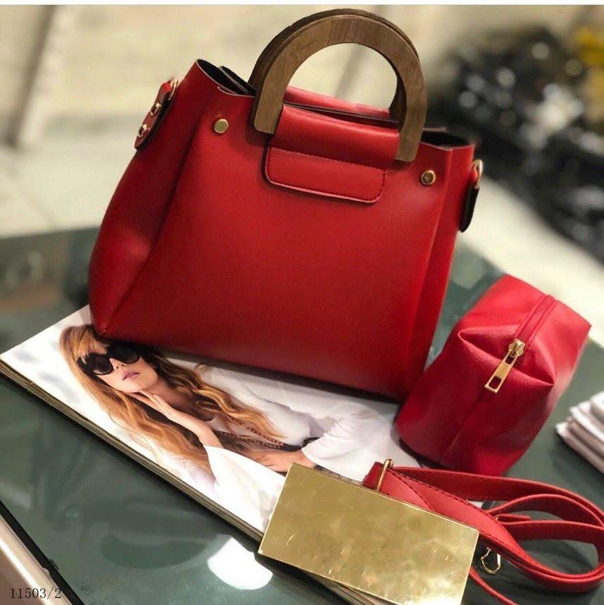29ca40b3b889 Сумка женская трапеция сумочка классическая деловая с деревянными ручками  ...