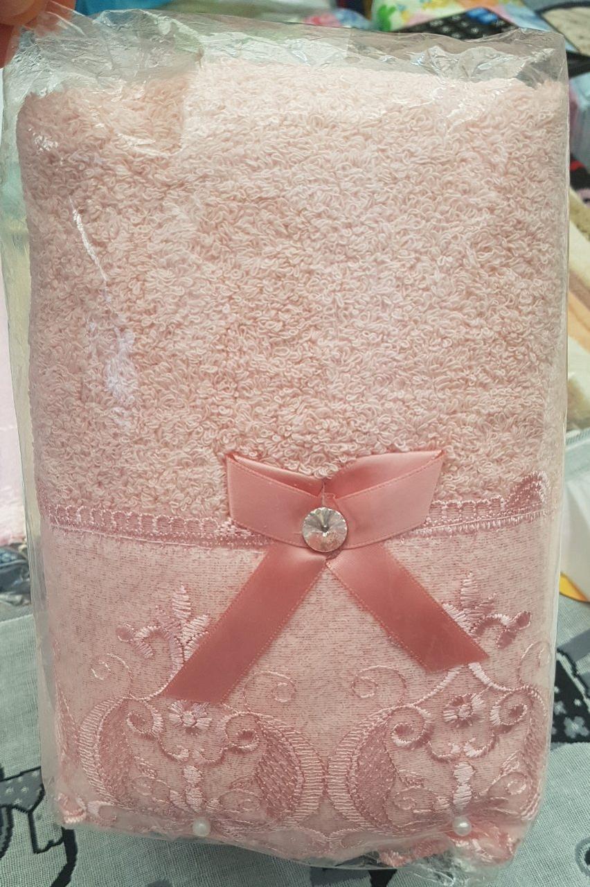 Банное полотенце с гипюром (6 штук в упаковке)