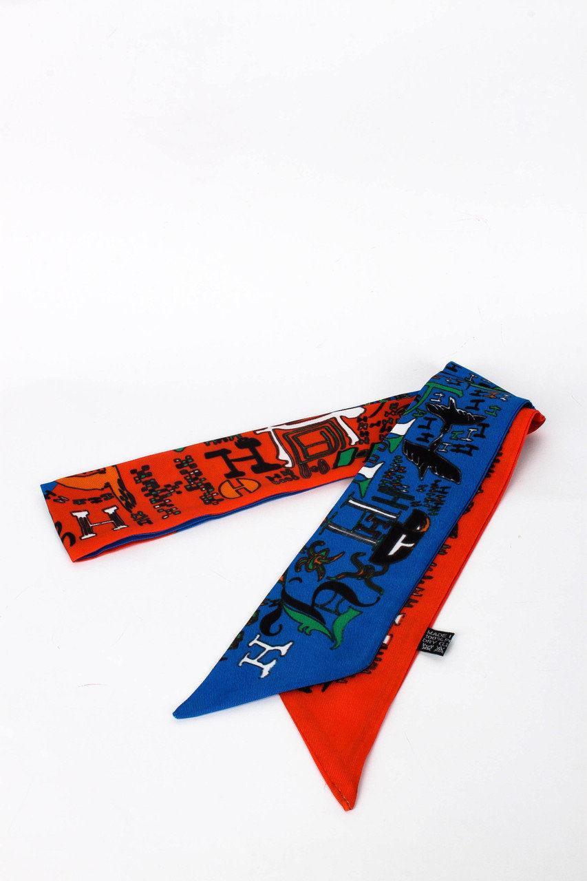 Яркий тонкий шарф