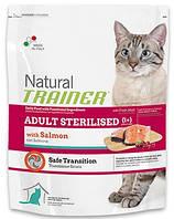 Корм Trainer Natural ADULT STERILISED With Salmon для стерилизованных кошек с лососем, 3 кг