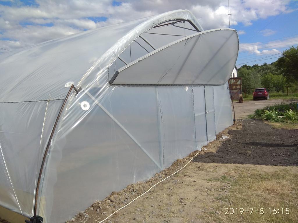 открытое торцевое проветривание фермерской теплицы с наддувом для зимнего выращивания