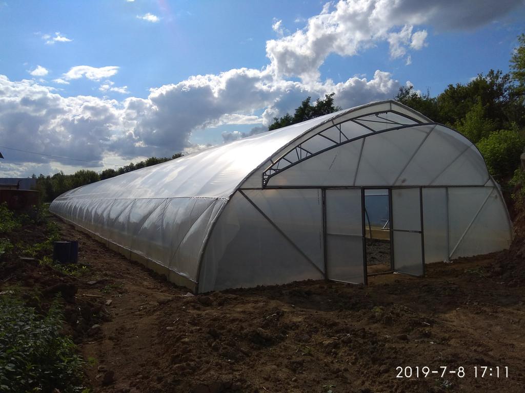 строительство теплиц из пленки для зимнего выращивания