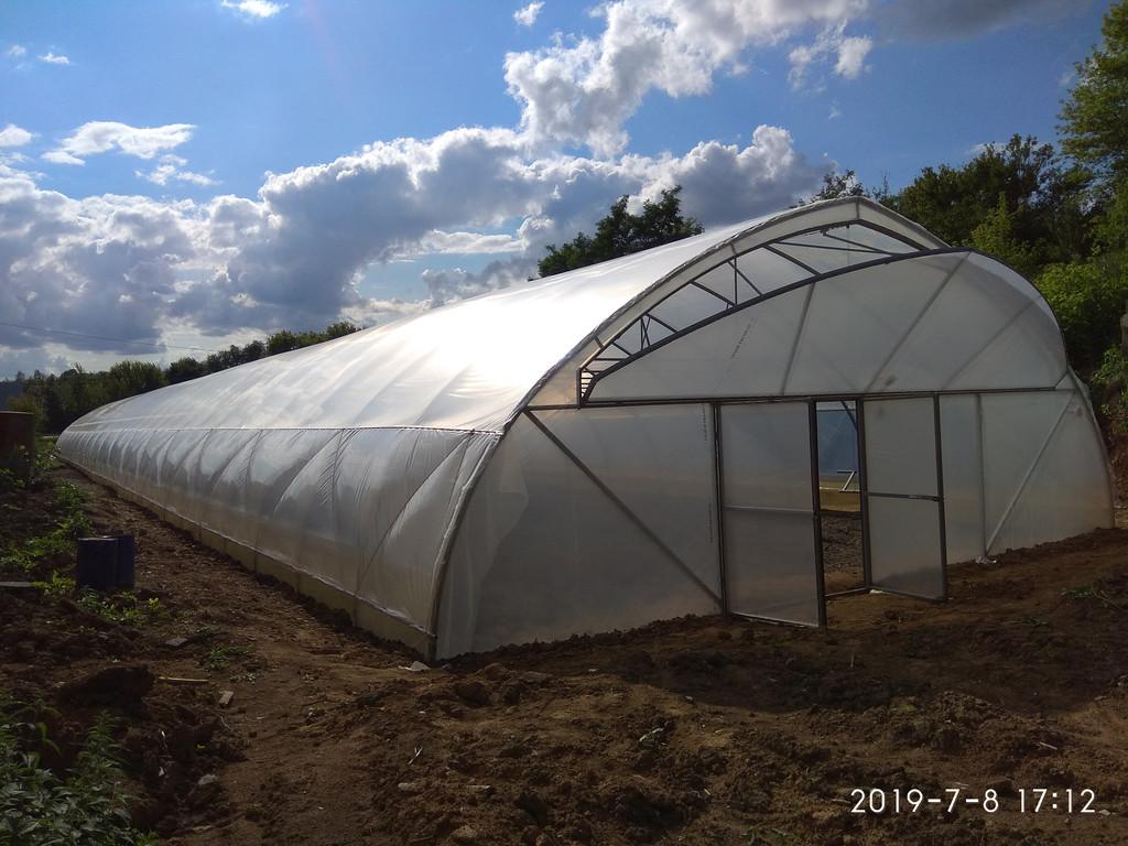промышленная теплица для круглогодичного выращивания с наддувом