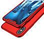 Противоударный чехол 360 +стекло для IPhone X/IPhone XS red, фото 4