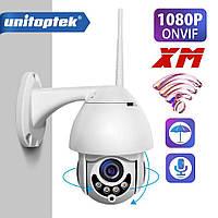 Внешняя, поворотная, погодозащитная IP WiFi камера Unitoptek XMW-N01 , 1080P, Onvif,IR ночное видение.XMEye