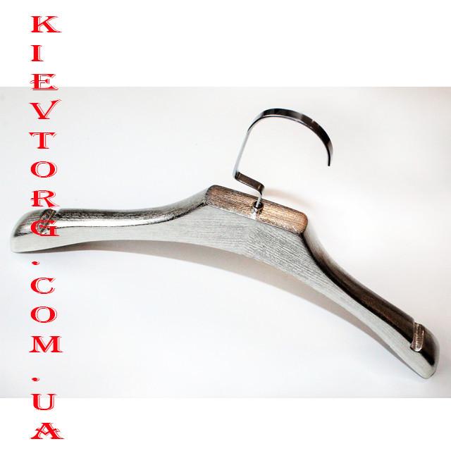 Тремпеля вешалки плечики для верхней одежды и трикотажа серебро 46 см