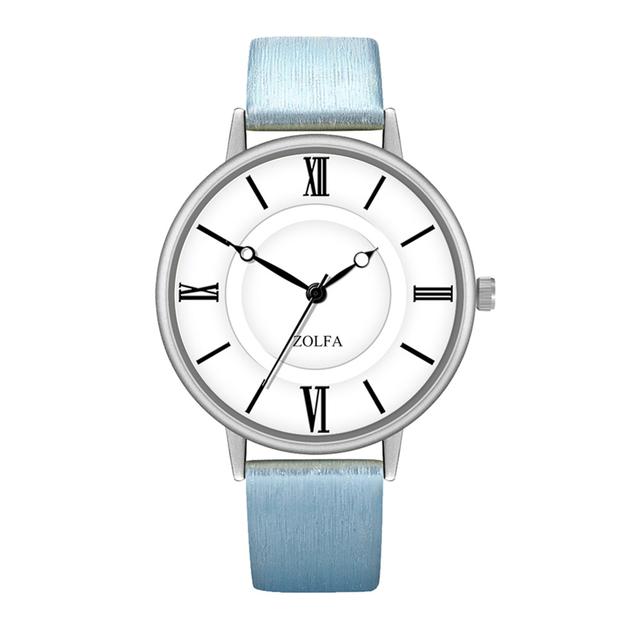 женские часы с голубым ремешком