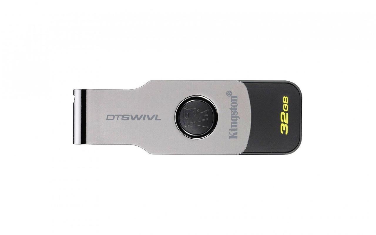 Флешка USB Kingston DataTraveler Swivl 32GB USB 3.0 (DTSWIVL/32GB) Black