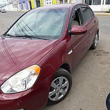 Дефлекторы окон (ветровики) Hyundai Accent/Verna 2006->/Kia Rio 4D 4шт (Heko)