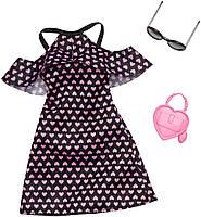 Одежда для кукол Барби Barbie Fashion Dress with Hearts and Accessory FXJ16