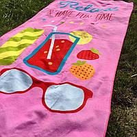 Коврик - полотенце пляжное 85х170 см., покрывало для пляжного отдыха Релакс