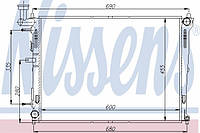 Радиатор охлаждения KIA, Nissens 66676
