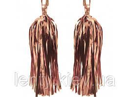 Пензлики тассель 2шт (Рожеве Золото) -