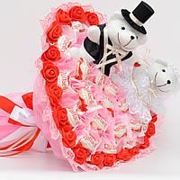 Букет из конфет / букет из игрушек / букет на свадьбу / букет з цукерок / свадебный букет / подарок на свадьбу