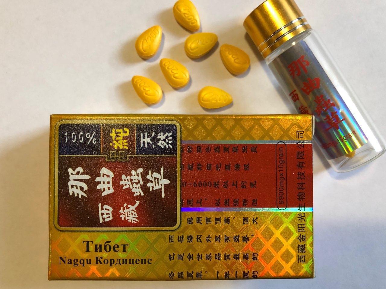 Препарат для потенції Тибетська кордицепс (10 таблеток)