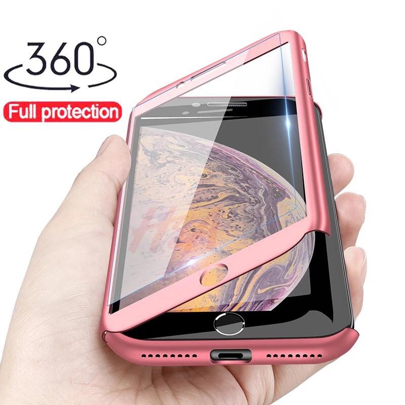 Чехол 360 градусов  для Iphone 7/8 + стекло в подарок, розовый