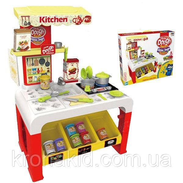 """Большой набор пластилина / тесто для лепки  """"Веселая кухня"""" 8725 - 8 баночек пластилина, аксессуары"""