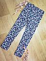 Стильные котоновые брюки скинни джегинсы на девочку в цветочек H&M (Англия), фото 3
