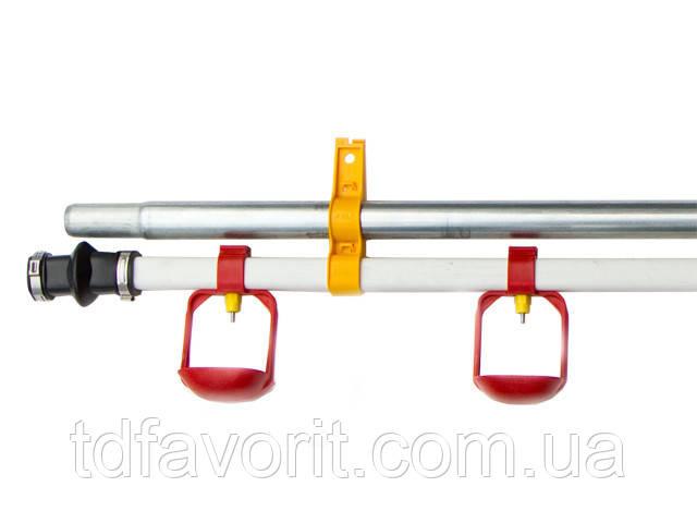 Секція лінії напування Lubing 3 м. ,труба 22 х 22 мм, 15 ніпелів з каплеуловителеми