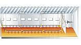 Секція лінії напування Lubing 3 м. ,труба 22 х 22 мм, 15 ніпелів з каплеуловителеми, фото 2