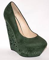 Женские туфли на танкетке, туфли на платформе