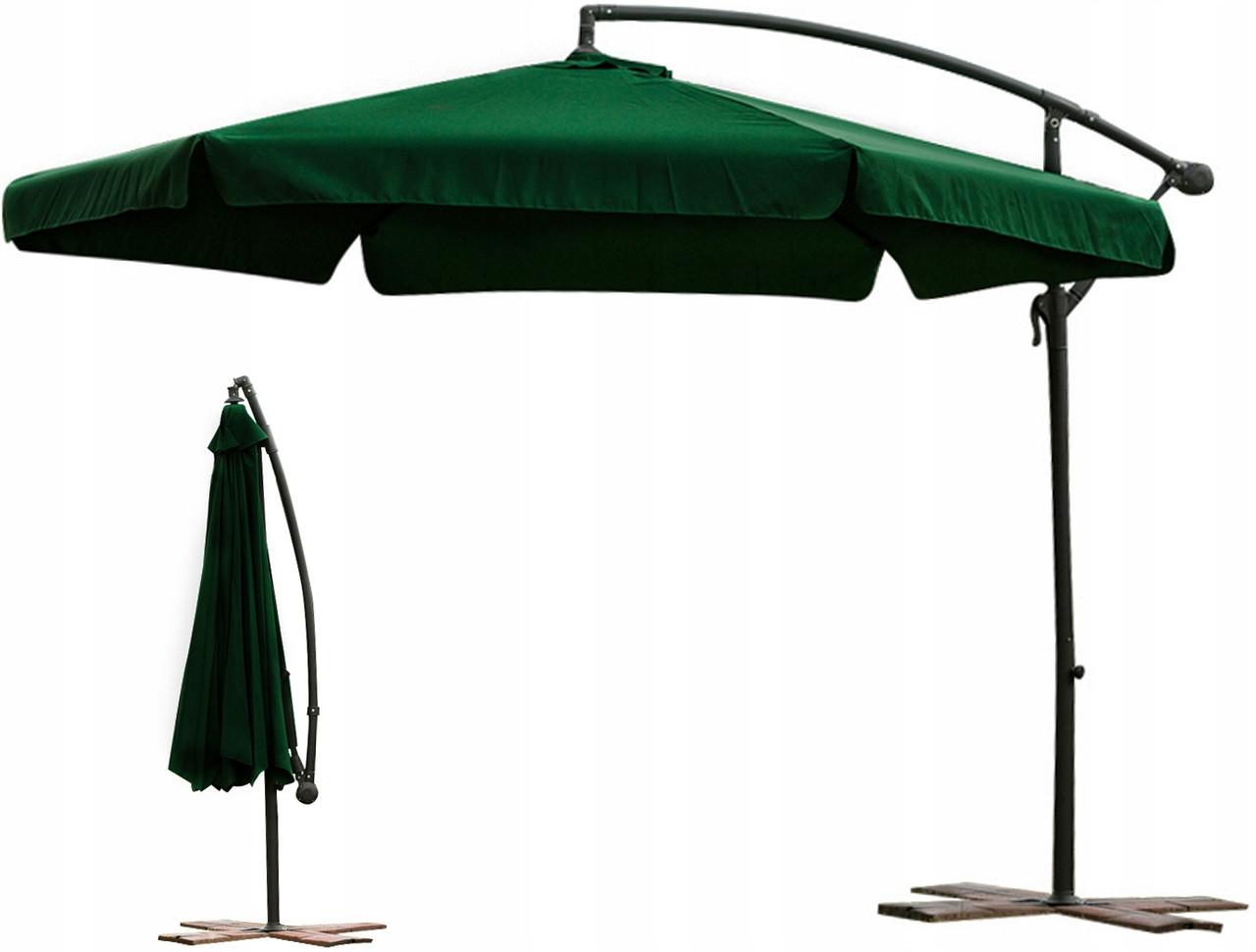 Садовый зонт с боковой стойкой 3 м  Парасоля Зеленый